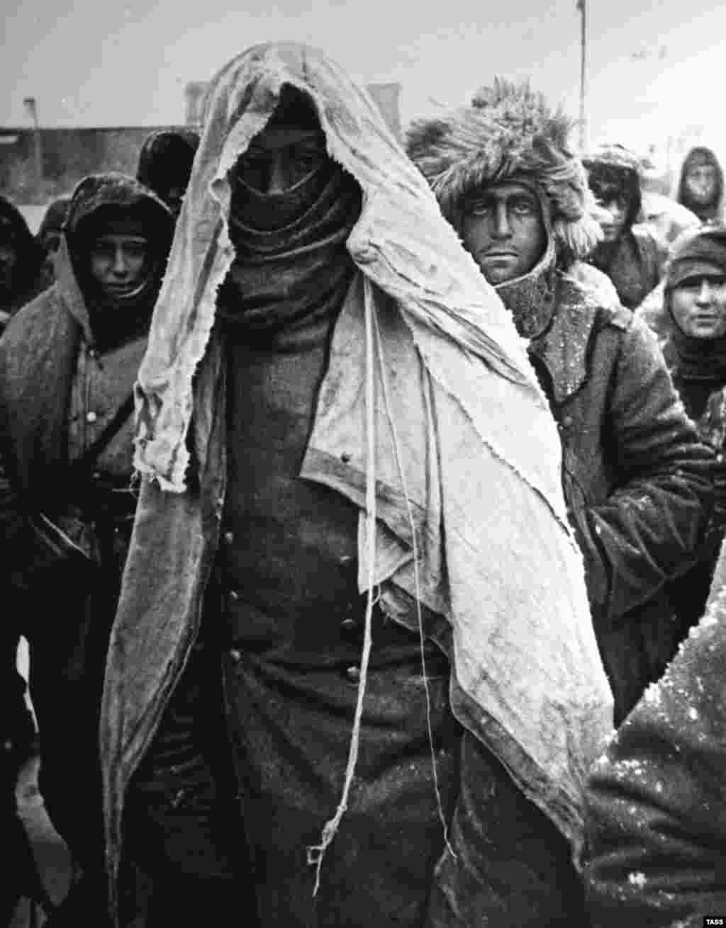 With supplies running out, most Germans were in an exhausted and emaciated condition by the time the fighting ended.