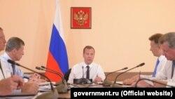 Прем'єр-міністр Росії Дмитро Медведєв на нараді у Севастополі, 25 липня 2016 року