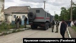 Обыск в селе Курское