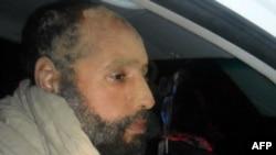 Сын погибшего ливийского лидера Муаммара Каддафи Сейф аль-Ислам. Зинтан, 19 ноября 2011 года.