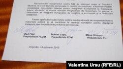 O declarație comună a liderilor AIE din 15 ianuarie 2012.