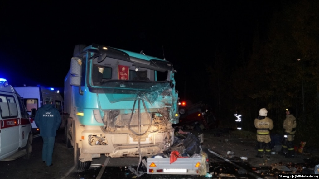 Russia's Chuvashia Mourns 11 Victims Of Deadly Traffic Accident on