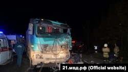 Eleven passengers in a minibus were killed when their vehicle collided with a truck on October 11.