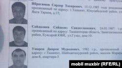 Фотографии задержанных в Ташкенте представителей криминального мира.