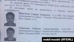 Задержанные в Ташкенте представители «преступного мира».