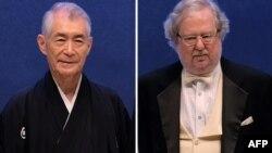 Нобелдин медицина тармагы боюнча быйылкы жеңүүчүлөрү Жеймс Эллисон менен Тасуку Хондзе.