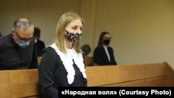 Аляўціна Корчык, якую судзяць за камэнтар пра Лідзію Ярмошыну