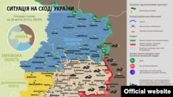 Ситуация в зоне боевых действий на востоке Украины 28 апреля 2016 года, согласно официальным украинским источникам