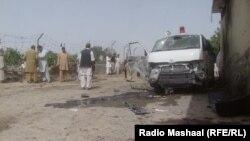 Жарылыс болған орын. Кветта, Пәкістан, 8 тамыз 2013 жыл