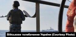 Українські військові в Азовському морі