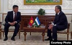 Спустя три дня после смерти Каримова премьер-министр Кыргызстана Сооронбай Жээнбеков в рамках поездки в Узбекистан провел встречу с узбекским коллегой Шавкатом Мирзиеевым