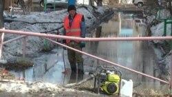 В Петропавловске подтопило дворы