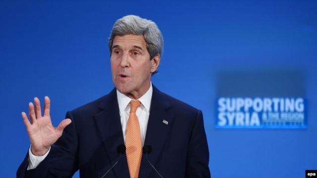 U.S. Secretary of State John Kerry said Russia and Syria are violating a UN cease-fire mandate but may soon stop.