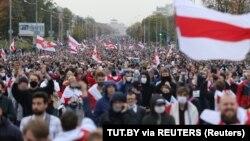 Բելառուս - Բողոքի զանգվածային ցույց Մինսկում, սեպտեմբեր, 2020թ.