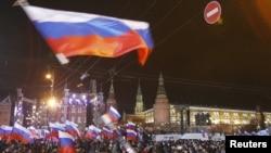 Митинг в поддержку Путина на Манежной в Москве 4 марта 2012