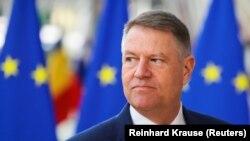 Președintele României Klaus Iohannis la summitul UE de la Bruxelles, 21 februarie 2020