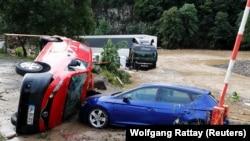 سرازیرشدن سیلابها در جرمنی جان چهار تن را گرفته است