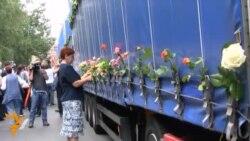 Ispraćaj srebreničkih žrtava iz Sarajeva
