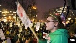 Одна из акций протеста в Висконсине