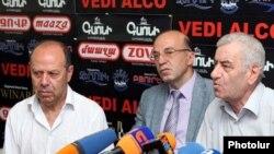 Участники пресс-конференции в Ереване