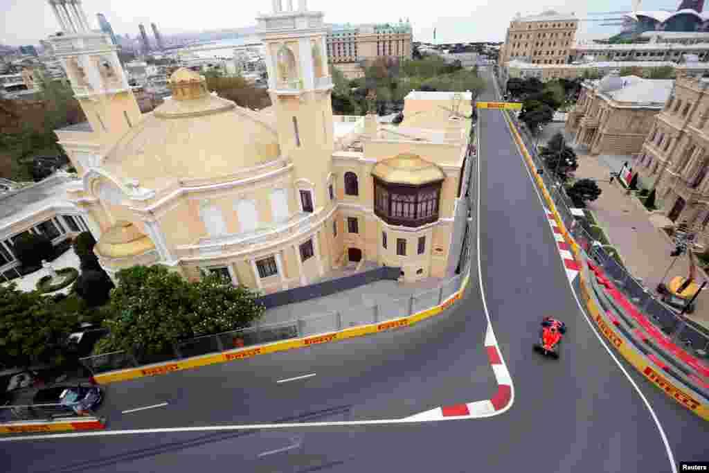 Формула-1 жарысы Баку көшелерінде өтті.