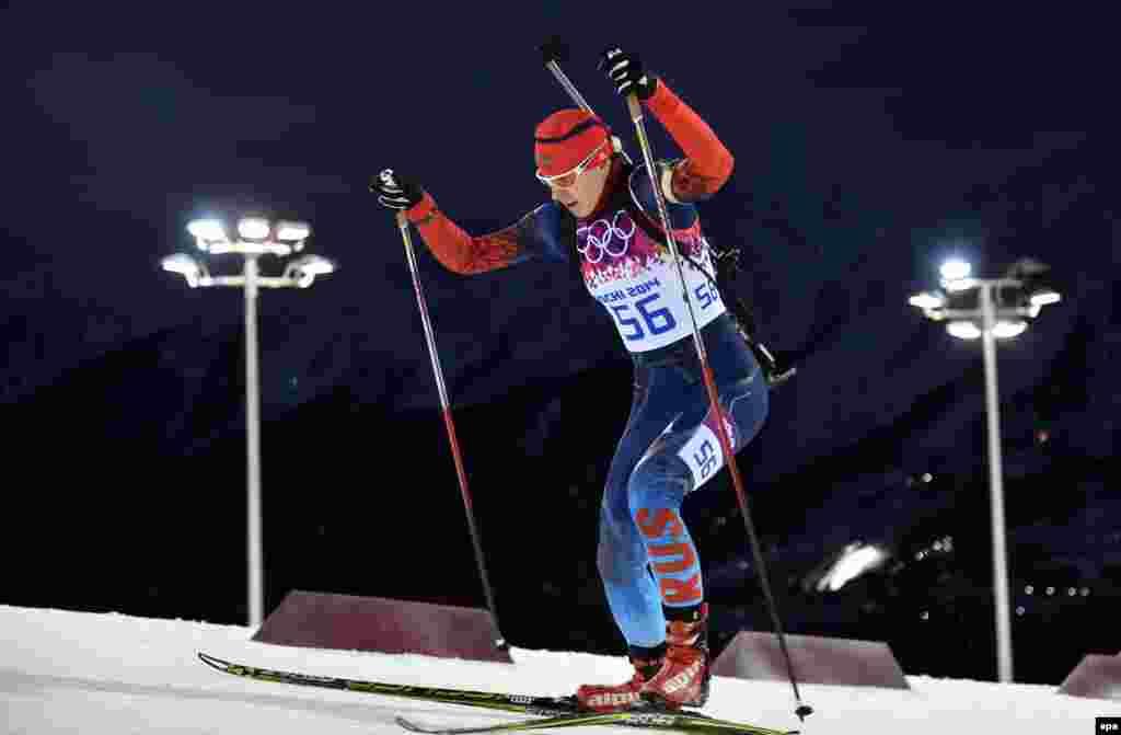 Россиянка Ольга Вилухина заняла второе место в спринтерской гонке на 7,5 километров в олимпийском Сочи.