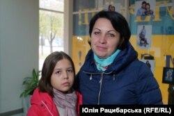 Юлія Драган з донькою