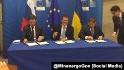 Міністри енергетики Росії й України, а також єврокомісар Марош Шефчович