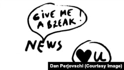 Starea Presei. Desen de Dan Perjovschi