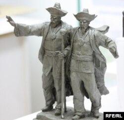 Керей мен Жәнібек хандардың ескерткіші үлгісіне жарияланған байқауға түскен эскиздің бірі. Астана, 14 қаңтар 2010 жыл. (Көрнекі сурет)