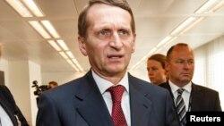 سرگئی ناریشکین رئیس ادارۀ استخبارات خارجی روسیه