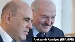 Россия бош вазири Михаил Мишустиннинг Беларусь президенти Александр Лукашенко билан учрашуви, Минск, 2021 йил 16 апрели