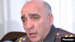 Armenia -- Colonel Hovannes Tamamian, chief of the Armenian police's Directorate General of Criminal Investigations, at a news conference on November 20, 2009.