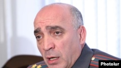 Armenia -- Hovannes Tamamian, chief of the Armenian police's Directorate General of Criminal Investigations, at a news conference on November 20, 2009.