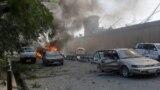 Мощным взрывом уничтожено или повреждено более 30 автомобилей.<br /> &nbsp;