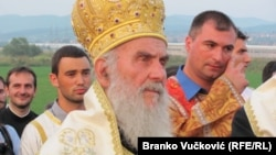 Serbia - Kragujevac - Head of Serbian Orthodox Church Irinej - July 2010