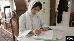 Иранская правозащитница Насрин Сотудех.