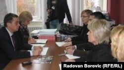 Sastanak sa Tomicom Milosavljević, ministrom zdravlja, foto: Radovan Borović