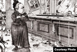 Карикатура времен Сухого закона