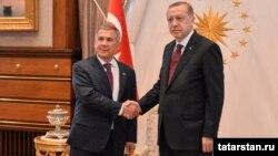 Рөстәм Миңнеханов һәм Рәҗәп Эрдоган