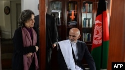 Afghan President Ashraf Ghani and his wife Rula Ghani.