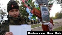 """Богдана Нещерет у могилы """"дяди Леши"""" – Алексея Мозгового"""