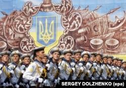 Во время празднования Дня Независимости Украины. Киев, 24 августа 2008 года