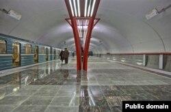 Станция «Алма-Атинская» в Московском метро.