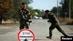 Украінскі блёкпост каля Горлаўкі