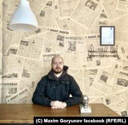 Максим Горюнов в кафе в Гродно
