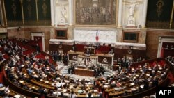 France -- A session of the French National Assembly in Paris, September 4, 2013.