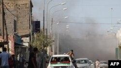 Әз-Зауие қаласындағы ұрыс. Ливия, 15 тамыз. 2011 жыл.
