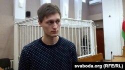 Павал Дабравольскі ў судзе, 1 сакавіка 2016 году