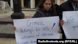 Акція на підтримку українців Криму, Сімферополь 2 березня 2014 року